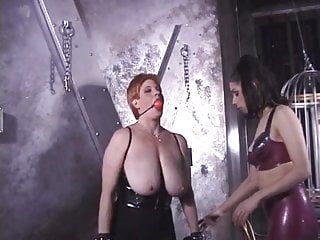Breasty hottie getting punished by mastix